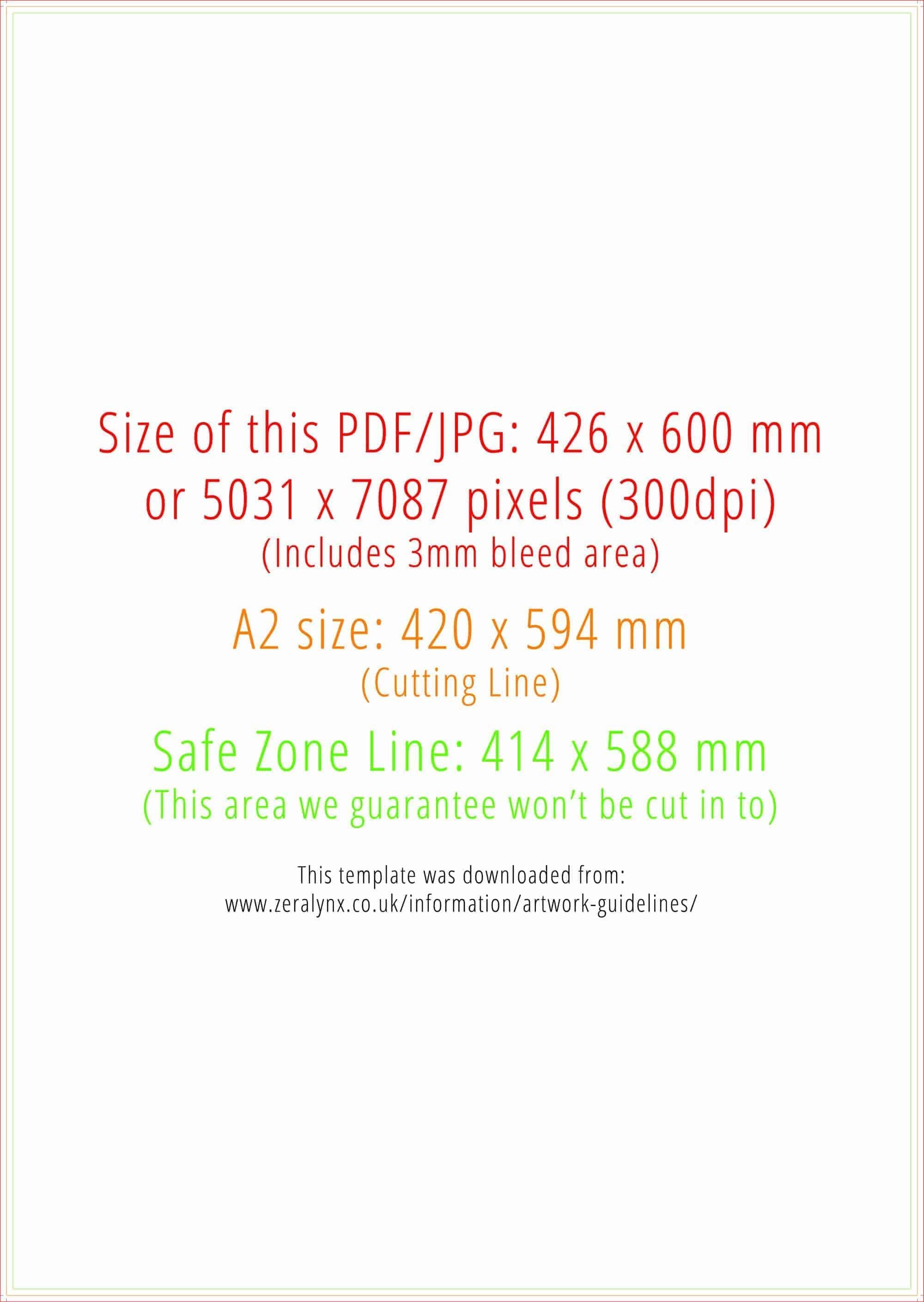 Artwork guidelines zeralynx print direct a3 size a2 size reheart Images