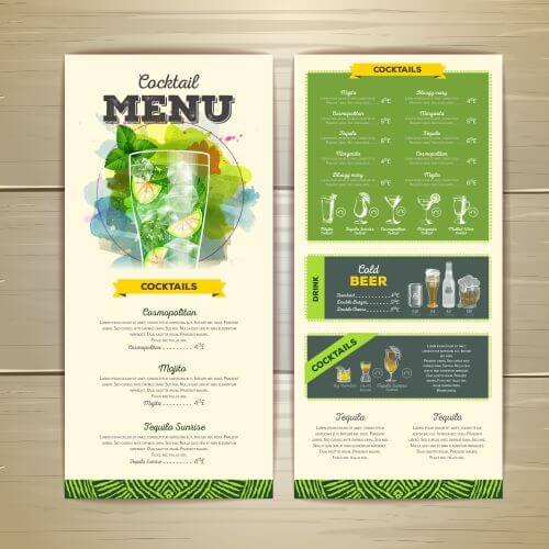 table menu printing