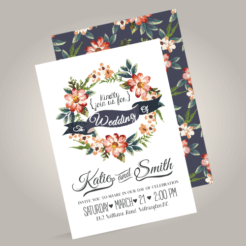 Wedding Invitation Printing.Wedding Invitation Printing Flat