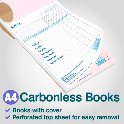 A4 Sample of carbonless NCR book